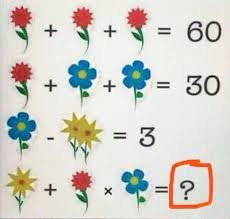 rompicapo somma dei fiori